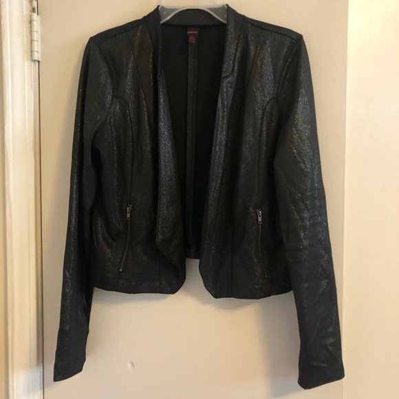 BONGO Jackets & Blazers - MUST GO FINAL PRICE Black metallic leather sweater